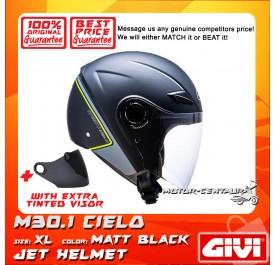 GIVI JET HELMET M30.1 CIELO XL MATT BLACK + TINTED VISOR