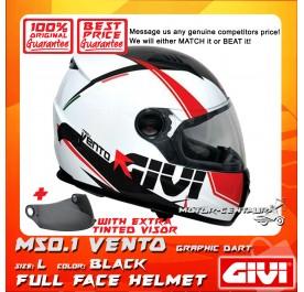 GIVI FULL FACE HELMET M50.1 VENTO L GRAPHIC DART BLACK + TINTED VISOR