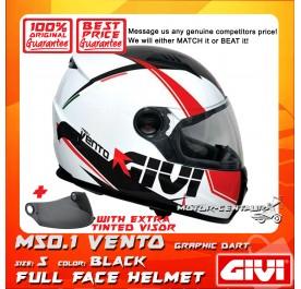GIVI FULL FACE HELMET M50.1 VENTO S GRAPHIC DART BLACK + TINTED VISOR