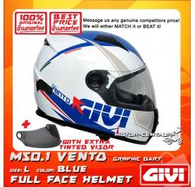 GIVI FULL FACE HELMET M50.1 VENTO L GRAPHIC DART BLUE + TINTED VISOR