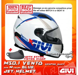 GIVI FULL FACE HELMET M50.1 VENTO M GRAPHIC DART BLUE + TINTED VISOR