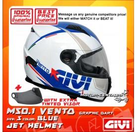 GIVI FULL FACE HELMET M50.1 VENTO S GRAPHIC DART BLUE + TINTED VISOR