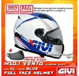 GIVI FULL FACE HELMET M50.1 VENTO XL GRAPHIC DART BLUE + TINTED VISOR
