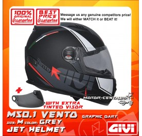 GIVI FULL FACE HELMET M50.1 VENTO M GRAPHIC DART GREY + TINTED VISOR