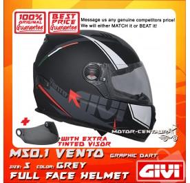 GIVI FULL FACE HELMET M50.1 VENTO S GRAPHIC DART GREY + TINTED VISOR