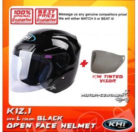 KHI HELMET K12.1 BLACK L + TINTED VISOR