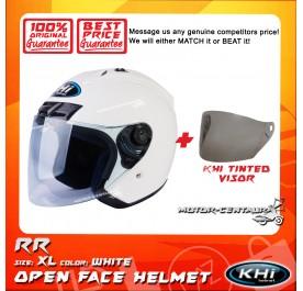 KHI HELMET RR WHITE XL + TINTED VISOR