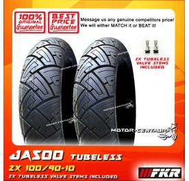 2x FKR TUBELESS TYRE JA500 100/90-10