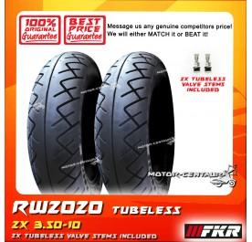 2x FKR TUBELESS TYRE RW2020 3.50-10