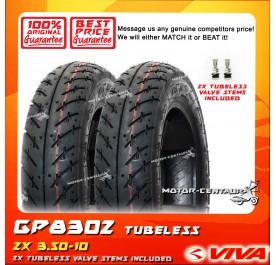 2x GP TUBELESS TYRE GP8302 3.50-10