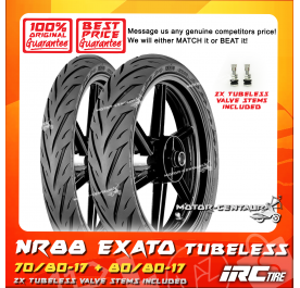 IRC TUBELESS TYRE EXATO NR88 70/80-17 + 80/80-17