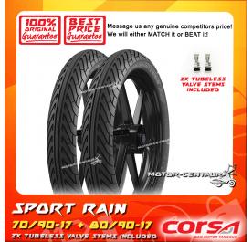 CORSA TUBELESS TYRE SPORT RAIN 70/90-17 + 80/90-17