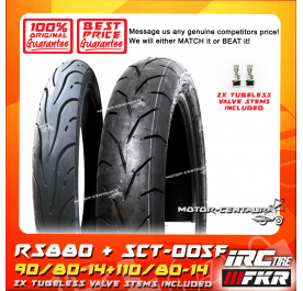 FKR GALLANT RS880 90/80-14 + IRC SCT-005F 110/80-14 TUBELESS TYRE