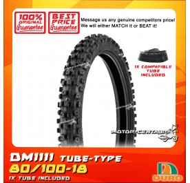 DURO TUBELESS TYRE DM1111 80/100-18 WITH FKR TUBE
