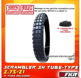 FKR SCRAMBLER TYRE STRONGHOLD SH 2.75-21 WITH FKR TUBE