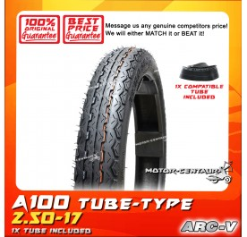 ARC-V TYRE A100 2.50-17 WITH FKR TUBE