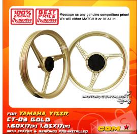 COMSTAR SPORT RIM CT-03 1.60X17(F) 1.85X17(R) Y15ZR (125Z) GOLD