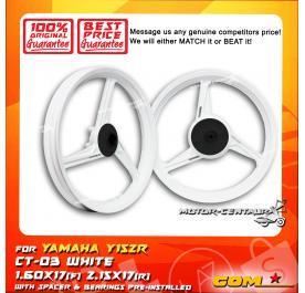 COMSTAR SPORT RIM CT-03 1.60X17(F) 2.15X17(R) Y15ZR (125Z) WHITE