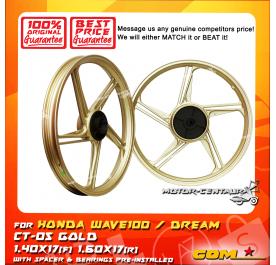 COMSTAR SPORT RIM CT-05 1.40X17(F) 1.60X17(R) WAVE100 GOLD