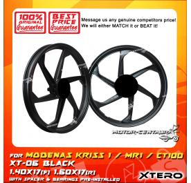 XTERO SPORT RIM XT-06 1.40X17(F) 1.60X17(R) KRISS 1 BLACK