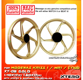 XTERO SPORT RIM XT-06 1.40X17(F) 1.60X17(R) KRISS 1 GOLD