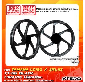 XTERO SPORT RIM XT-06 1.40X17(F) 1.60X17(R) LC135 BLACK