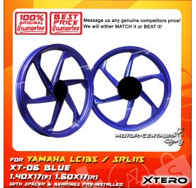 XTERO SPORT RIM XT-06 1.40X17(F) 1.60X17(R) LC135 BLUE