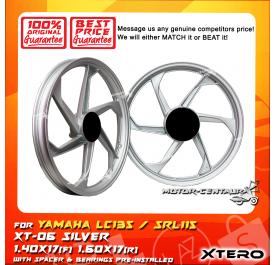 XTERO SPORT RIM XT-06 1.40X17(F) 1.60X17(R) LC135 SILVER