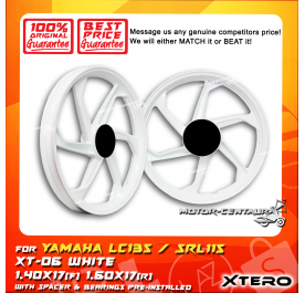 XTERO SPORT RIM XT-06 1.40X17(F) 1.60X17(R) LC135 WHITE