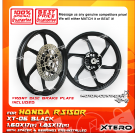 XTERO SPORT RIM W/FR DISC BRAKE PLATE XT-06 1.60X17(F) 1.85X17(R) RS150R BLACK