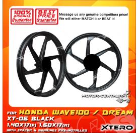 XTERO SPORT RIM XT-06 1.40X17(F) 1.60X17(R) WAVE100 BLACK