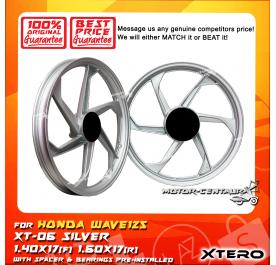 XTERO SPORT RIM XT-06 1.40X17(F) 1.60X17(R) WAVE125 SILVER