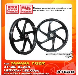 XTERO SPORT RIM XT-06 1.60X17(F) 1.60X17(R) Y15ZR BLACK