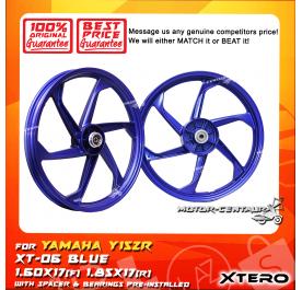 XTERO SPORT RIM XT-06 1.60X17(F) 1.85X17(R) Y15ZR BLUE