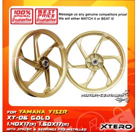 XTERO SPORT RIM XT-06 1.40X17(F) 1.60X17(R) Y15ZR GOLD