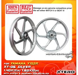 XTERO SPORT RIM XT-06 1.40X17(F) 1.60X17(R) Y15ZR SILVER