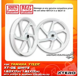 XTERO SPORT RIM XT-06 1.60X17(F) 1.85X17(R) Y15ZR WHITE
