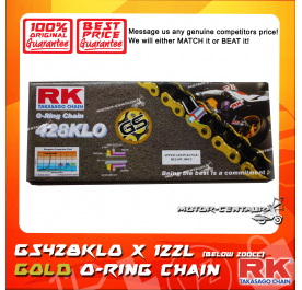 RK O-RING CHAIN GS428KLO X 122L GOLD PLATED (OUTER LAYER ONLY)