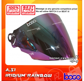 BOGO VISOR A51 (ARC RITZ) IRIDIUM RAINBOW