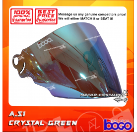 BOGO VISOR A51 (ARC RITZ) CRYSTAL GREEN