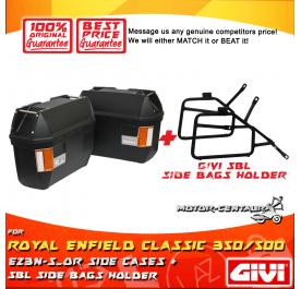 GIVI E23N-S-OR SIDE CASES + GIVI ROYAL ENFIELD CLASSIC 350/500 SIDEBAG HOLDER