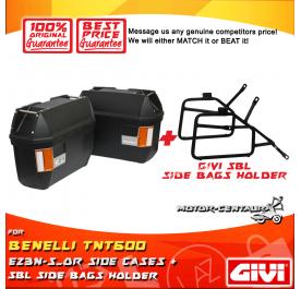 GIVI E23N-S-OR SIDE CASES + GIVI BENELLI TNT 600 SBL SIDEBAG HOLDER