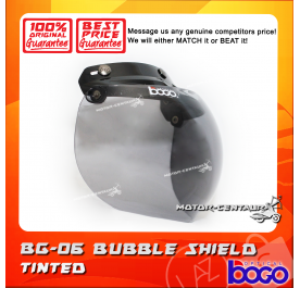 BOGO BUBBLE SHIELD VISOR BG-06 SMOKE, BLACK-CAP