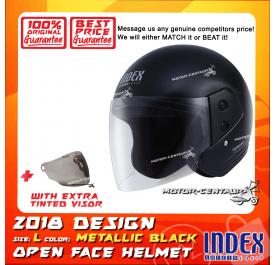 INDEX HELMET METALLIC BLACK + TINTED VISOR