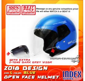 INDEX HELMET BLUE + 2-TONE DARK GREY VISOR