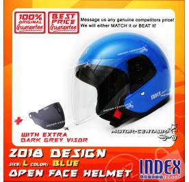 INDEX HELMET BLUE + DARK GREY VISOR