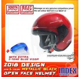 INDEX HELMET RED + 2-TONE BLUE VISOR