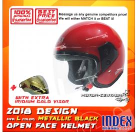INDEX HELMET RED + IRIDIUM GOLD VISOR
