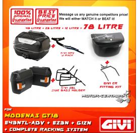 GIVI TOTAL 78 LITRE CASES SET FOR MODENAS GT128