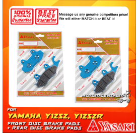 YASAKI FRONT + REAR DISC BRAKE PADS FOR YAMAHA Y125Z, Y125ZR